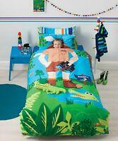 Croc Hunter Duvet | Doona Quilt Cover Set | Reversible | Crocodile Cushion