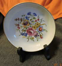 1982 Happy Holidays Avon Collectible Royal Worcester Porcelain Plate With Stand