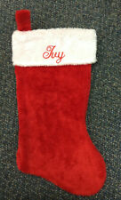 "Personalized Christmas Stocking  Super Plush 18"" Red or Green Embroidered"