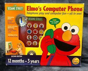SESAME STREET ELMO'S COMPUTER PHONE CD 1999 Sony Wonder/CTW NEW Sealed