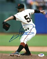 SERGIO ROMO SIGNED AUTOGRAPHED 8x10 PHOTO SAN FRANCISCO GIANTS PSA/DNA