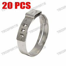 """20 Packed 1"""" PEX Stainless Steel Clamp Cinch Ring Crimp Pinch Fitting Tubing"""
