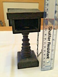 Antique Miniature Lectern, Chained Bible, Communion Book, Much Ado About Nothing