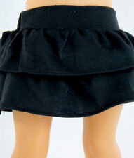 "18"" Doll Clothes Black Tiered Skirt fits 18"" Doll Black Tiered Skirt"