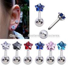 Monroe Ear Stud Cartilage Foward Helix Earring Punk 6pc 16G Star Gem Tragus Ring