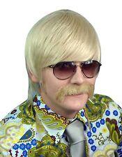 Mens Blonde 70's Wig Mod Guy Beatles 60's 70's Costume Fancy Dress Retro Disco