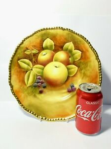 Hand Painted Signed MANFRED PINTER Coalport Cabinet Plate Fruits 27cm Dia.