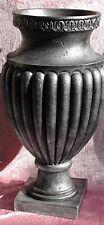 Große Amphore Vase Pokal Säule Groß Dekoration Möbel Bodenvase 882 Antik Silber