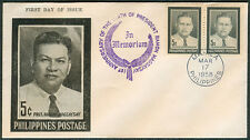 1958 PRESIDENT RAMON MAGSAYSAY PHILIPPINES POSTAGE First Day Cover