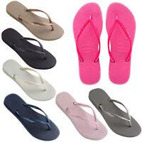 2019 GENUINE Havaianas Slim Logo Flip Flops Brazil beach thongs unisex sandals