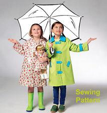 """Kwik Sew K3941 Pattern Children's & 18"""" Doll Raincoats XXS-L BN"""