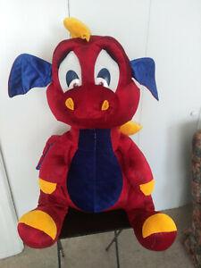 "Giant Valentine's Day Plush Dragon 40"" Tall New Stuffed with Polyfil, HTF!"
