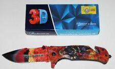ALBAINOX FIREFIGHTER FAST OPENING RETTUNGSMESSER MIT 3D PRINTMOTIV NEU