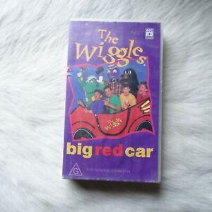 THE WIGGLES BIG RED CAR 1995 VHS Video Tape ADVENTURE Friends TRAVEL Children