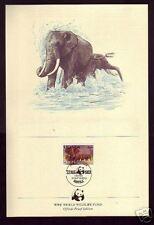 330++DOCUMENT N°1 UGANDA  ELEPHANTS  OBLITERE 1° JOUR