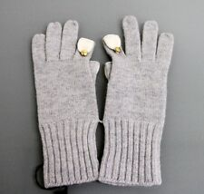 NEW Authentic GUCCI Wool/Cashmere Gloves w/Metal GG button Gray sz L 272743 1477