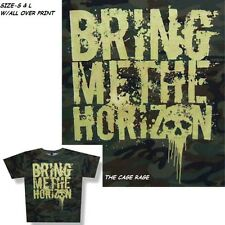 """BRING ME THE HORIZON - T-SHIRT - ARMY CAMOFLAGE - METALCORE BAND - """"S, L"""" - AOP"""