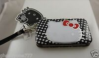 Hello Kitty wristlet Smart phone wallet  white red polka dot Sanrio fits iphone