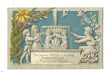 1880 Trade Card Murray & Lanman Florida Water Perfume Fuller Druggist Lynn MA