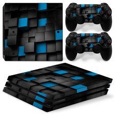 Sony PS4 Playstation 4 Pro Skin Aufkleber Schutzfolie Set - Pixel 2 Motiv
