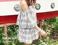 Cotton Blend Checked Hand-wash Only Dresses for Women