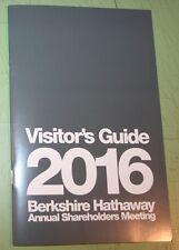 2016 BERKSHIRE HATHAWAY SHAREHOLDER MEETING VISITORS GUIDE