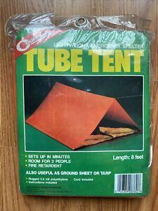 Coghlan's Tube Tent Emergency Lightweight Orange Polyethylene Camping Shelter
