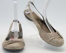 Naturalizer Women's Hanley Beige Slip On Elastic Slingback Low Heel Sz 9.5 Shoes
