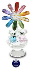 "[SPECIAL OFFER]""Koalas&Rainbow Chrysan."" Austrian Crystal Figurine was AU$102.00"