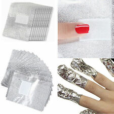 50/100Pcs Ladies Nail Art Soak Off Acrylic Gel Polish Foil Nail Wraps Remover