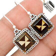 Artisan - Smokey Topaz 925 Sterling Silver Earrings Jewelry SE111541