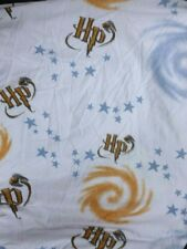 VINTAGE WARNER BROTHERS HARRY POTTER WHITE FLANNEL TWIN FITTED SHEET CRAFT