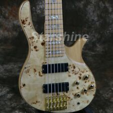 6 String Electric Bass Guitar ASH Body Maple Fingerboard Gold Hardware YL-BS10