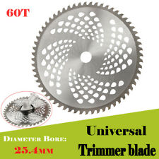 US 10'' 60T Carbide Tip Blade For Brush Cutter Trimmer Bore Diameter 25.4mm