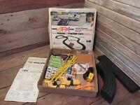 Vintage Aurora AFX Racing Jackie Stewart Speedway Race Set Slot Track Grandstand
