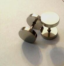 Wholesale Lot of 24 Pairs Men's Stainless Steel  Silver Stud Barbell  Earrings