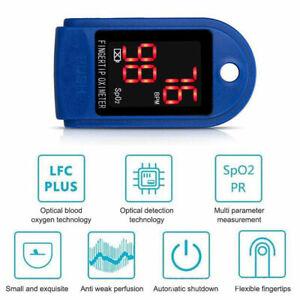 Fingertip Pulse Oximeter Blood Oxygen Saturation SpO2 Finger PR Monitor