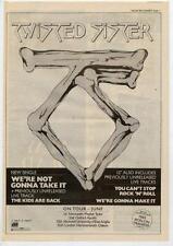 Twisted Sister UK Tour advert 1984 OBLIQUE