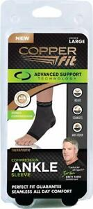 Copper Fit Unisex Advanced Support Ankle Sleeve (Sizes:M, L, XL)