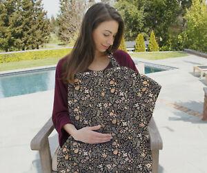 Bebe au Lait Premium Cotton Discreet Nursing Cover Blanket, Floral Haven New