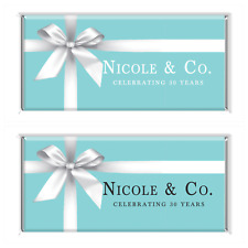 Tiffany & Co. Personalised Chocolate Wrapper Gloss 4x6 to suit Aldi 40g bars