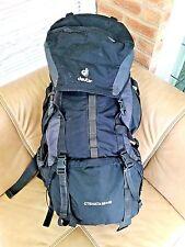 Deuter (70L) 60+10L Large Ctehata Backpack: Black, Strong, Travel, Adjust Back