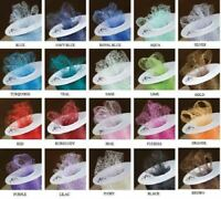 LACE WEB MESH NET RIBBON - HIGH QUALITY - 22 COLOURS -  WEDDING CARDS / CAKES