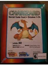 Target EXCLUSIVE Charizard 2017 Pokemon Event Card Code Sun & Moon NEW