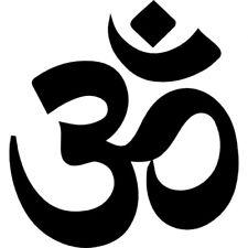 Yoga Meditation Om OHM Symbol Vinyl Car Sticker Window Decal