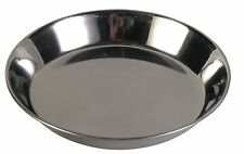 Silver Stainless Steel Saucer Cat Kitten Bowl Food & Water Dish 0.2L