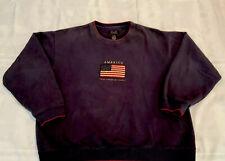 America Flag Sweatshirt Pride Freedom Honor Navy XL