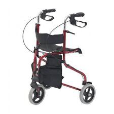 Tri Walker with Seat Backrest and Side Pockets Locking Brakes triwalker rollator
