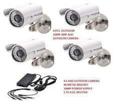 4 PCS 2mp AHD Color Outdoor CCTV  Security Camera 36IR Day Night Video MTLc