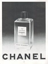 ▬► PUBLICITE ADVERTISING AD PARFUM PERFUME CHANEL eau de cologne monsieur 1959